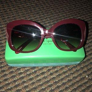 New! Kate Spade Jakalyn - Red w/ Glitter Rim